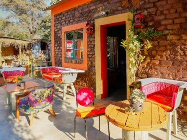 Unconventional up-cycled furniture and decor - Dusty Road township experience in Victoria Falls, ZImbabwe