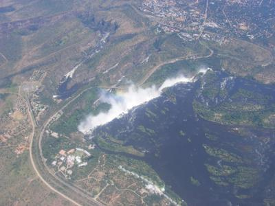 The falls from the air
