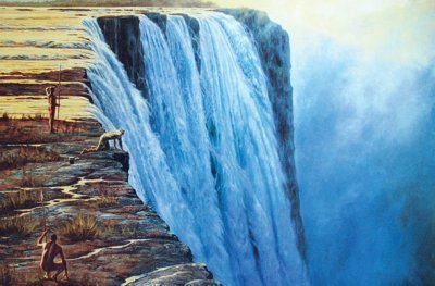 Dr Livingstone's discovery of the Victoria Falls