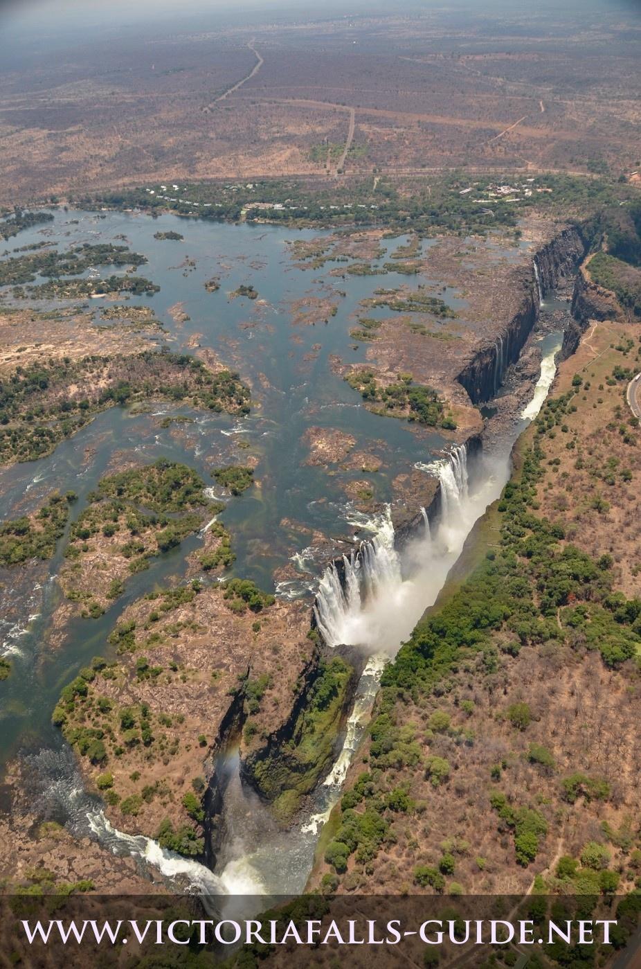 Aerial image of Victoria Falls Zimbabwe side taken 7 November 2014