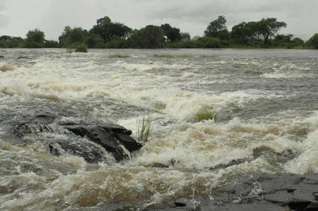 The Zambezi River above the Victoria Falls