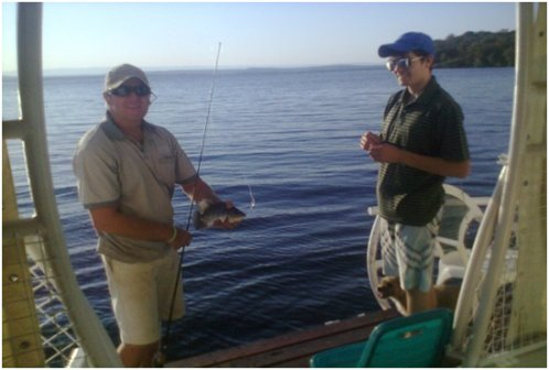 The Ponty guests fishing on Lake Kariba