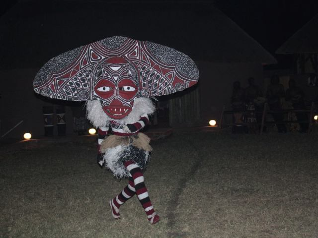 Tradtional African Dancer wearing mask