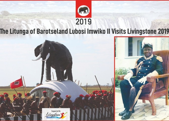 Litunga Visit to Livingstone, Zambia in 2019