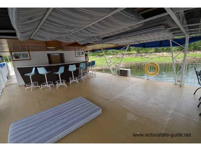 Upper deck of the OB Joyful  - plenty of space