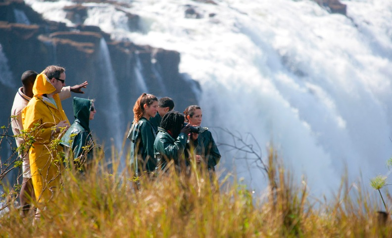 A guided tour on Livingstone Island, and then a swim in Devils Pool, Victoria Falls