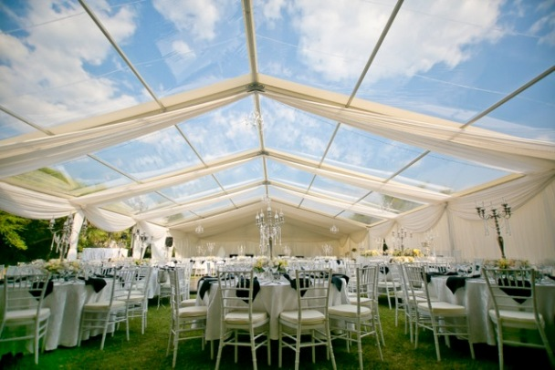 Gorgeous setting for a wedding reception in Victoria Falls, Zimbabwe