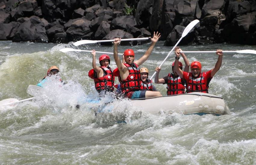 Whitewater rafting on the Zambezi River