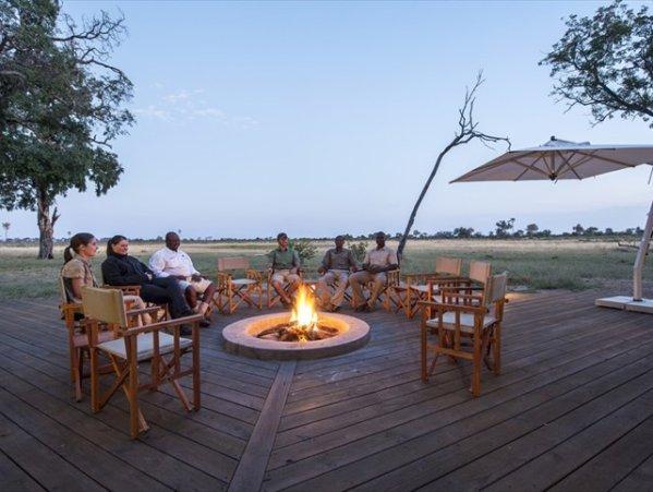 The fire pit at Davisons Camp, Hwange National Park, Zimbabwe