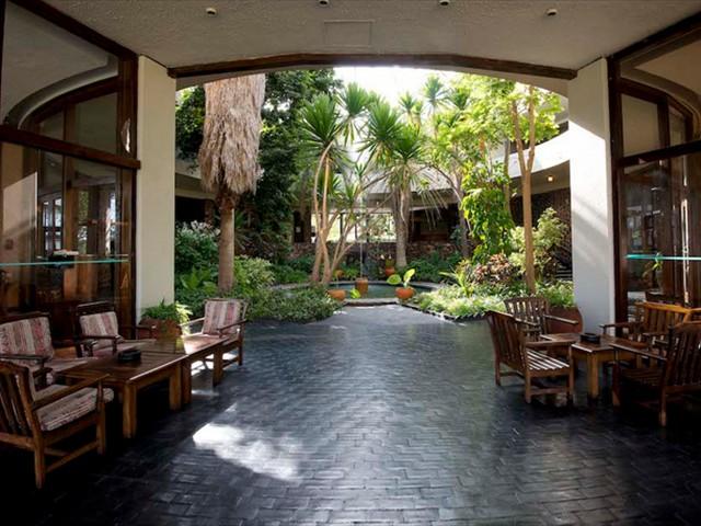The lobby at Hwange Safari Lodge - Zimbabwe