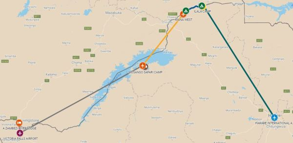 An exciting luxury safari including unforgettable Victoria Falls with breathtaking Kariba and fantastic game in Mana Pools National Park.