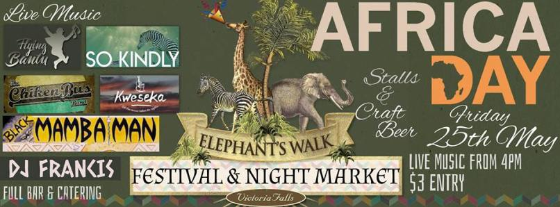 Africa Day celebrations with music, food and drinks - Victoria Falls, Zimbabwe