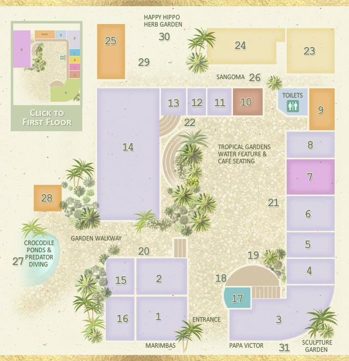 Map of the Elephant's Walk Mall ground level