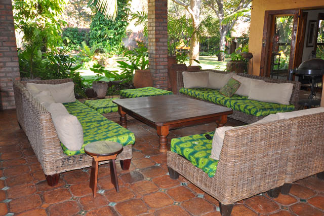 The lounge area on the veranda