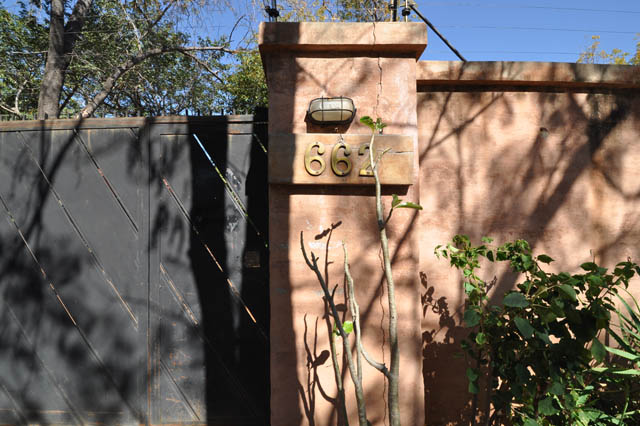 The gate at 662 Reynard Road