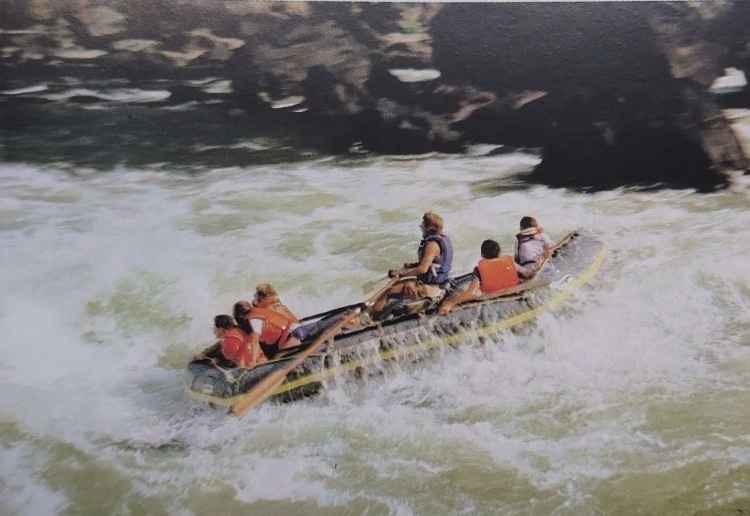 Rafting on the Zambezi River in the 80's