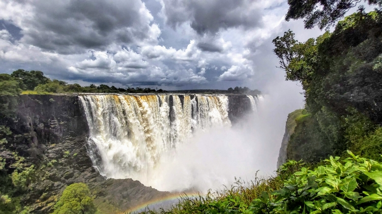 The Victoria Falls on Zimbabwe side - taken January 2021 by Victoria Falls Guide