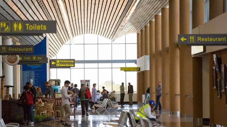 Inside the new Victoria Falls Airport - Zimbabwe