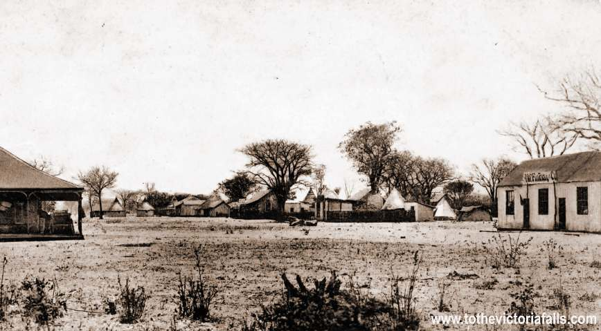 The Old Drift on the Zambezi River near Victoria Falls. c1900