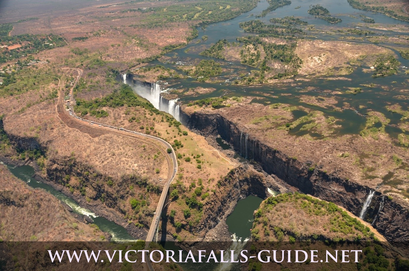 The Victoria Falls during the dry season