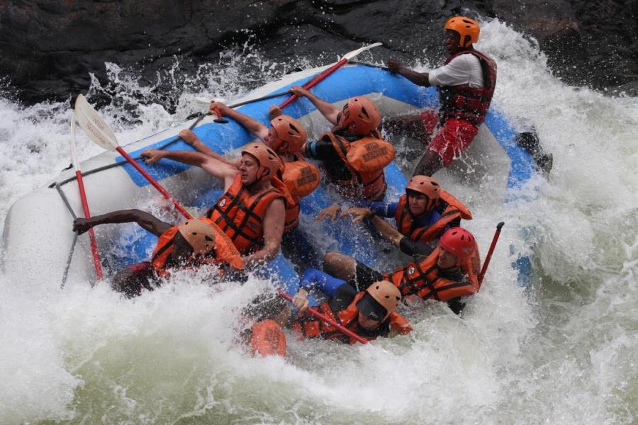 Victoria Falls white water rafting below the Falls