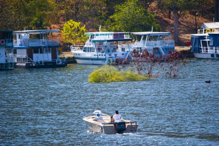 Houseboats on Lake Kariba