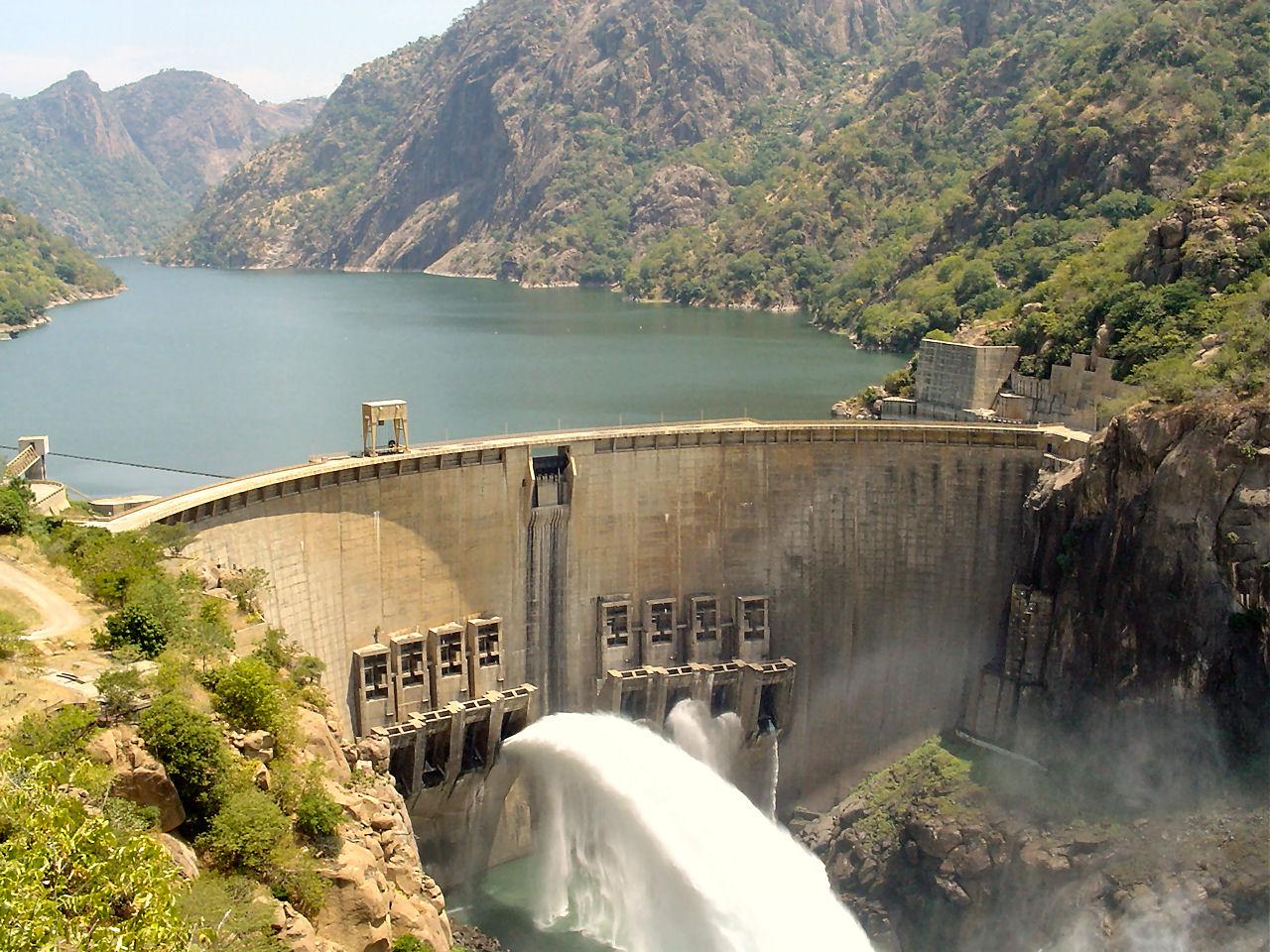 Cahora bassa Dam in Mozambique - lower Zambezi River