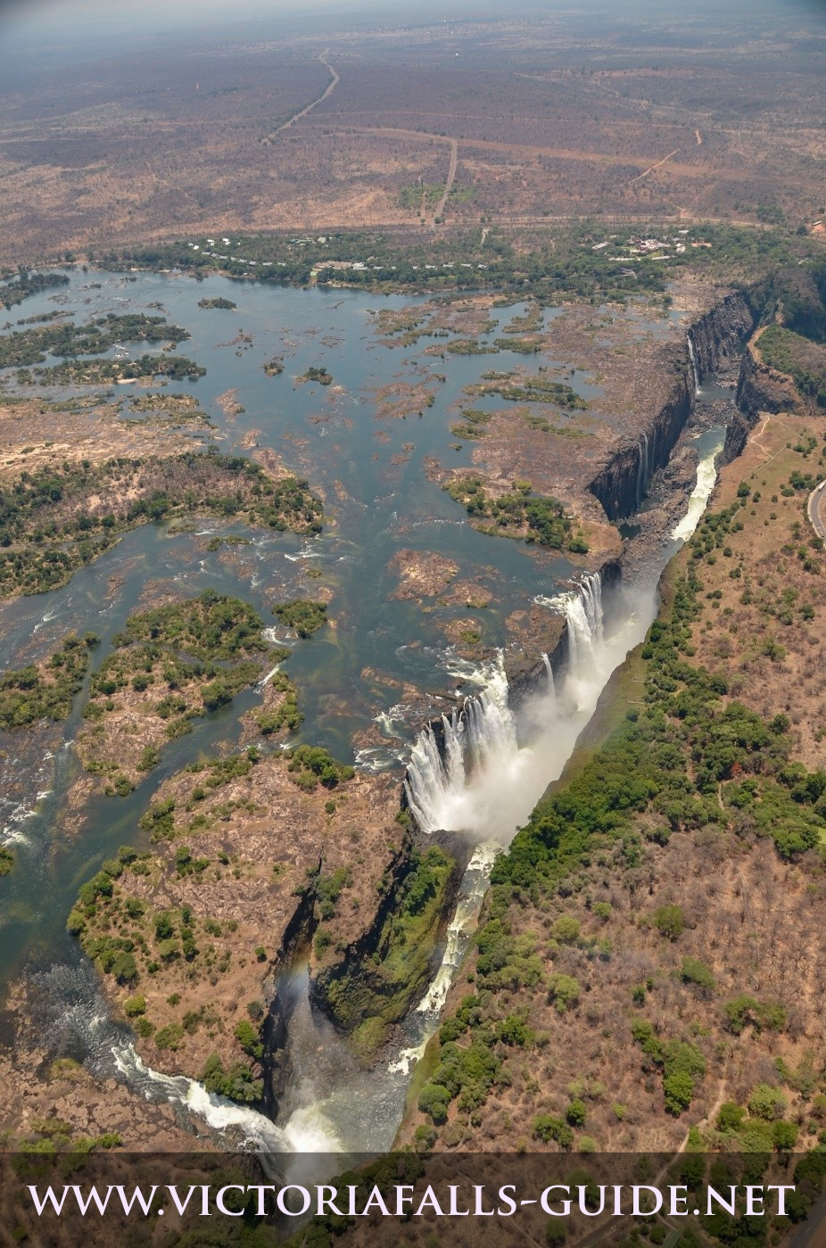 Aerial image of Victoria Falls Zimbabwe side taken 7 November 2014