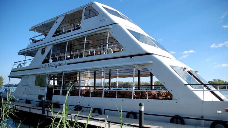 The Lady Livingstone cruise boat on the Zambezi River near Victoria Falls