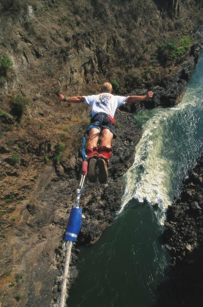 Bungee Jumping Off The Victoria Falls Bridge