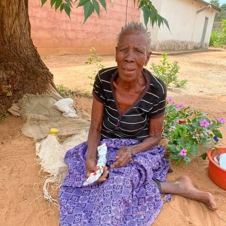 Centenarian at Chinotimba Old People's Home in Victoria Falls, Zimbabwe