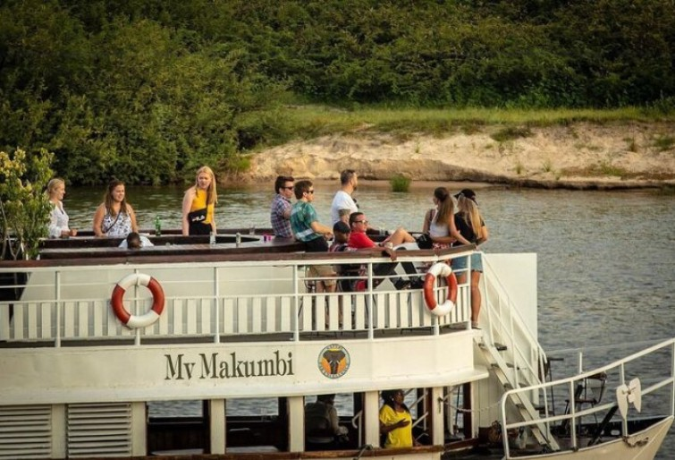 Fun on the Zambezi River on a cruise near Victoria Falls