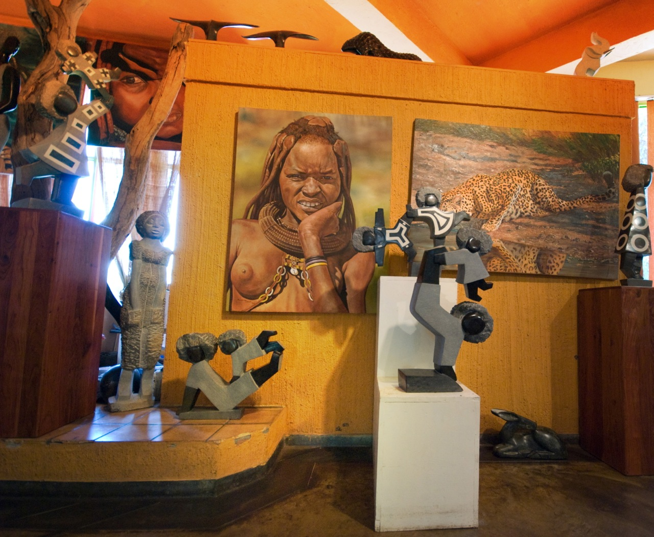 The art gallery at Elephant's Walk Mall, Victoria Falls