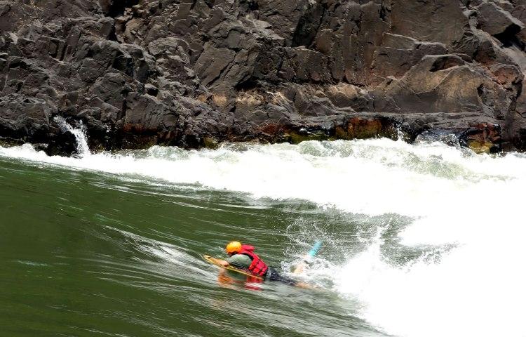 Riverboarding on the Zambezi River