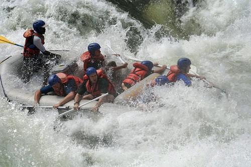 White water rafting on the mighty Zambezi River - Victoria Falls, Zimbabwe