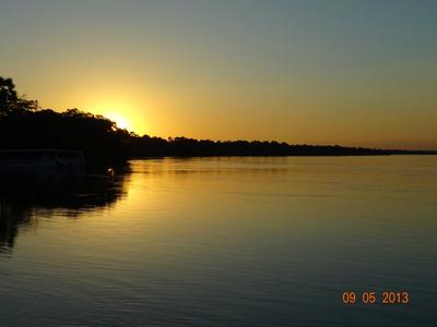 Sunset from the A Zambezi River Lodge