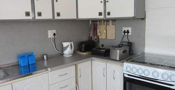 Fully equipped kitchen on the Abangane