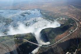 Fly over the Victoria Falls