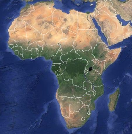 Map - Africa's vegetation densities