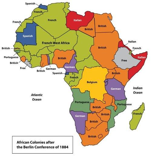 African colonies in 1884