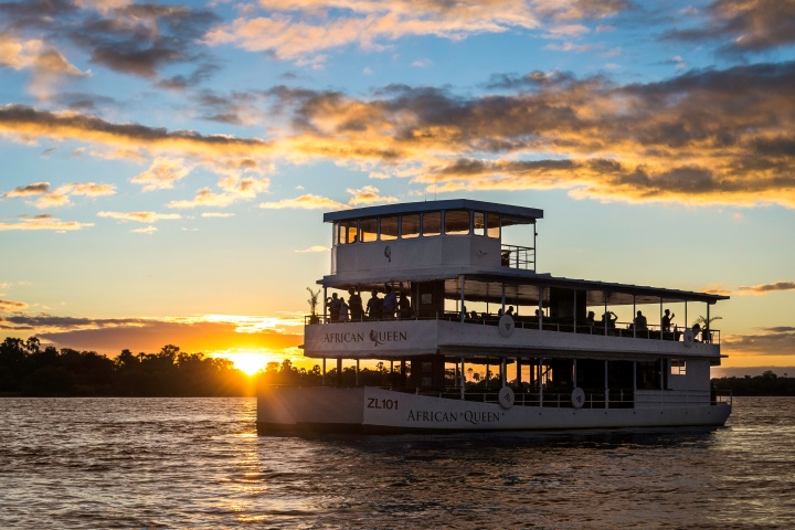 Spectacular Sunset on the Zambezi River