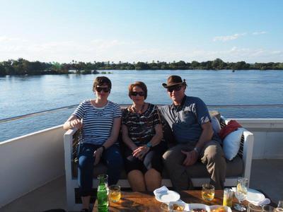 Sunset cruise on the Zambezi Explorer