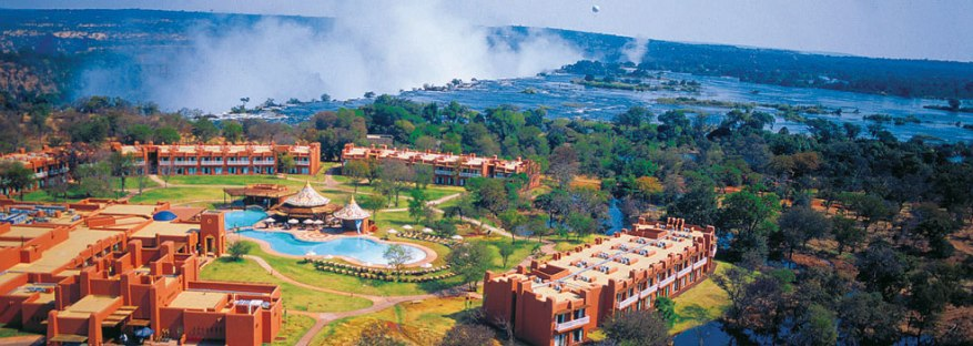 Avani Victoria Falls, the nearest hotel to the Victoria Falls on the Zambia side.
