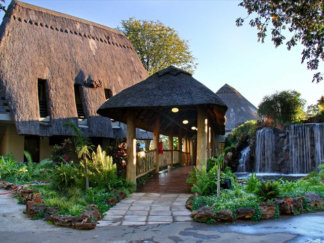 Guest entrance to A Zambezi River Lodge