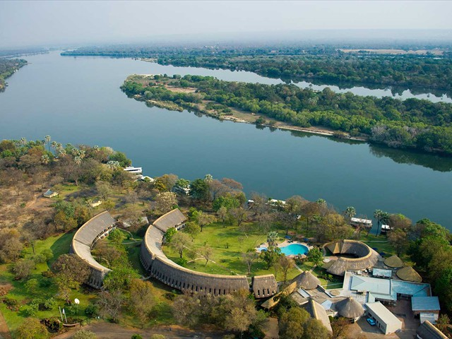 A'Zambezi River Lodge, the only hotel on the Zambezi River's edge - Victoria Falls, Zimbabwe