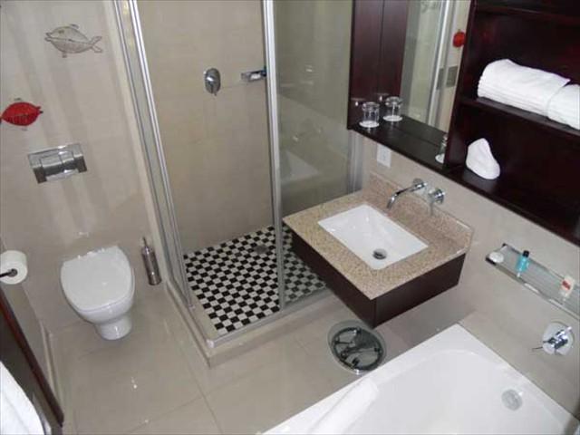 The interior of the en-suite bathroom
