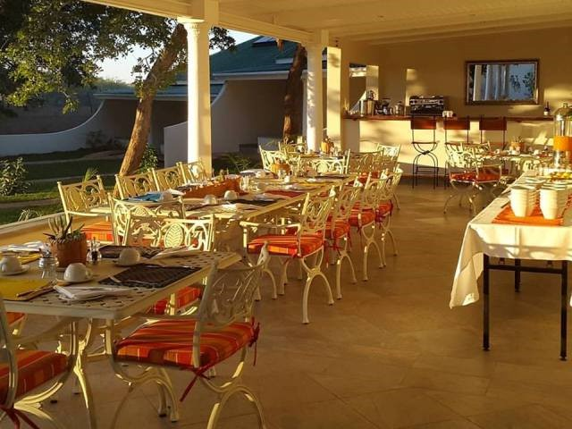 And outdoor dining area