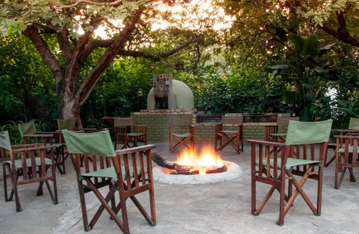 Firepit and pizza oven, great place for sundowners at Bayete Guest Lodge, Victoria Falls Zimbabwe