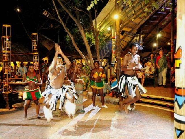 Lively performances and interactive shows are part of the Boma Experience in Victoria Falls, Zimbabwe.