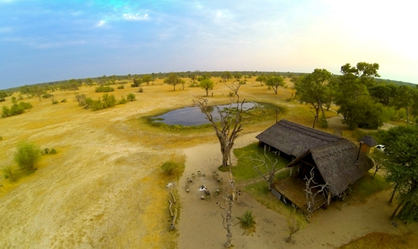 Bomani Tented Lodge as seen from above - Hwange national Park, Zimbabwe